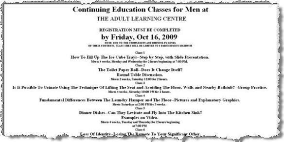 Continuing Education Classes for Men (mini)